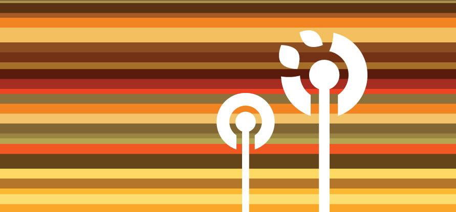 Разноцветные осенние линии